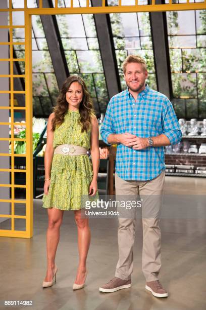 Host Vanessa Lachey with Head Judge Curtis Stone