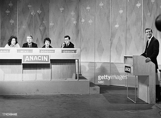 Panelists Elaine May Mike Nichols Dorothy Loudon guest panelist Orson Bean host Dick Van Dyke