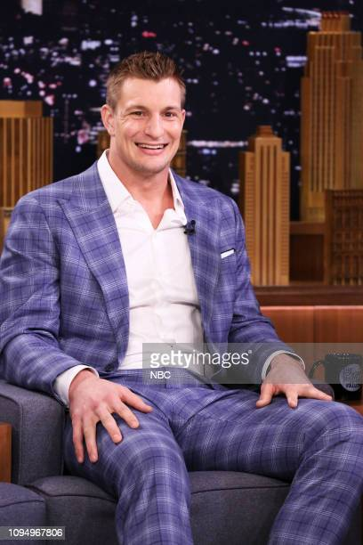 Football player Rob Gronkowski during an interview on February 6 2019