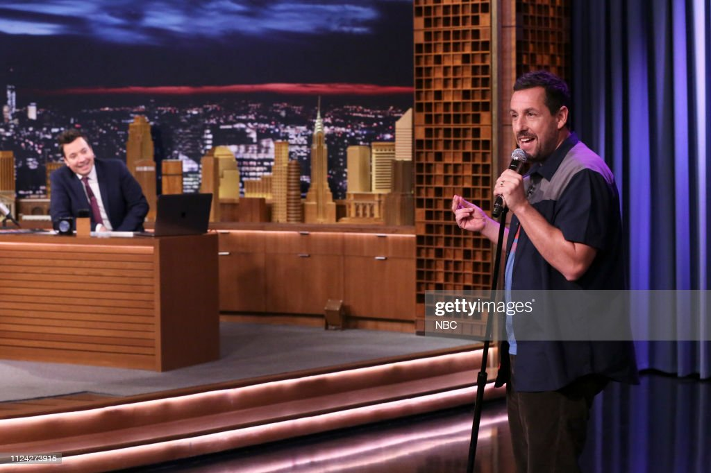 "NY: NBC'S ""Tonight Show Starring Jimmy Fallon"" With Guests Adam Sandler, Stephen Merchant, Big Bird, METRO BOOMIN FT. GUNNA"