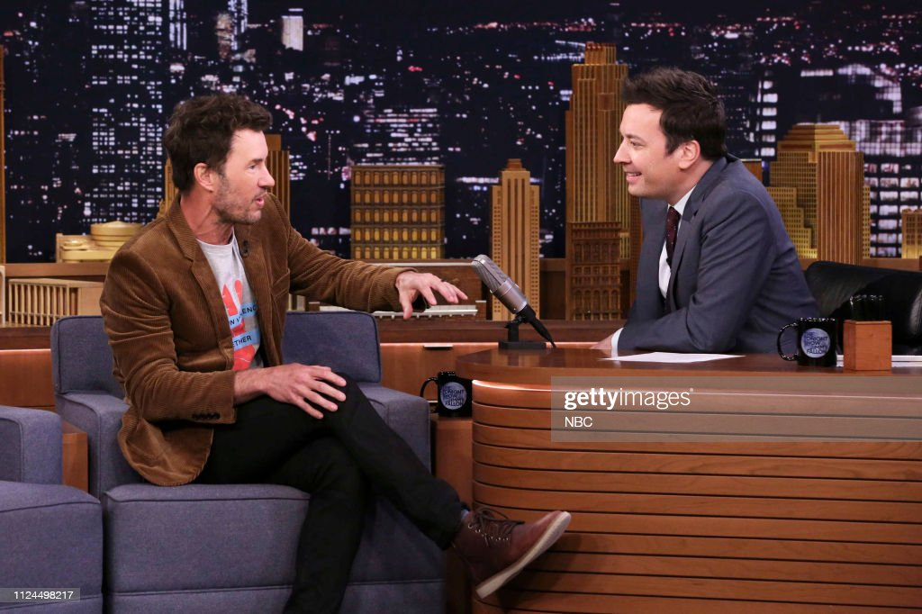 cad2020a9614 Toms Shoes founder Blake Mycoskie during an interview with host ...