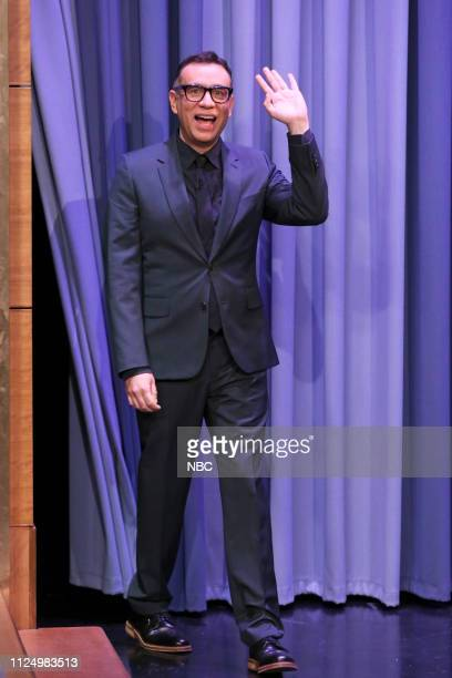 Comedian Fred Armisen arrives to the show on February 14 2019