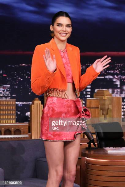 Model Kendall Jenner arrives to the show on February 14 2019