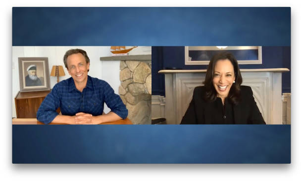 "NY: NBC'S ""Late Night With Seth Meyers"" With Guests Sen. Kamala Harris, Pete Carroll"
