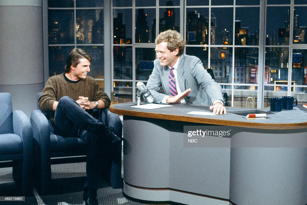 Actor Tom Cruise During An Interview With Host David Letterman On August 10 1988