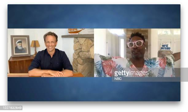 MEYERS Episode 1018A Pictured in this screen grab Host Seth Meyers talks with actor Billy Porter on July 28 2020