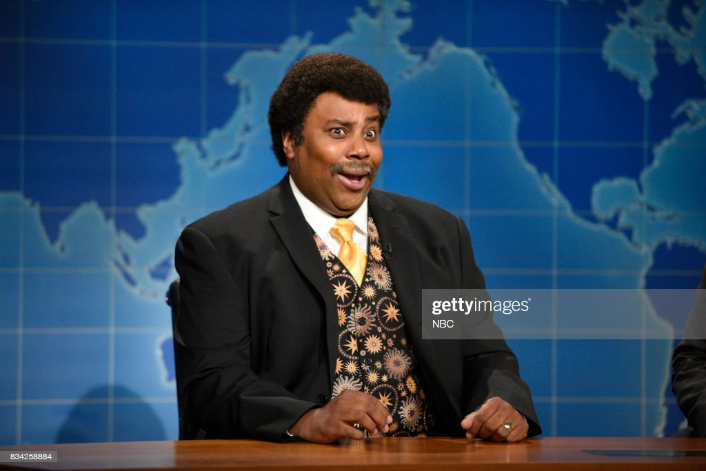 Kenan Thompson as Neil deGrasse Tyson at the Weekend Update desk on August 17, 2017 --