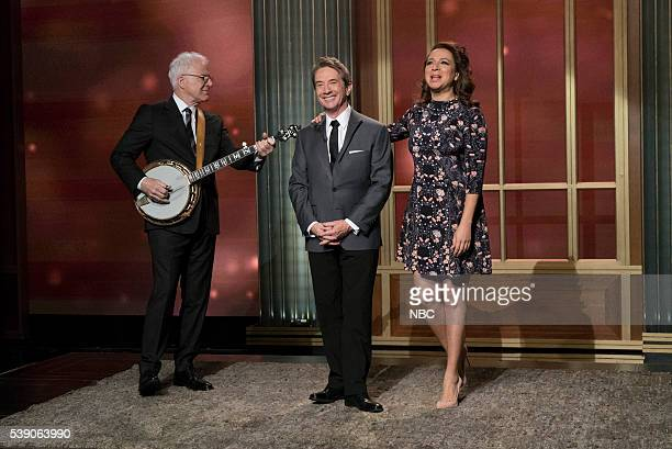 MAYA MARTY Episode 102 Pictured Steve Martin Martin Short Maya Rudolph during the Steve and Marty Song on June 7 2016