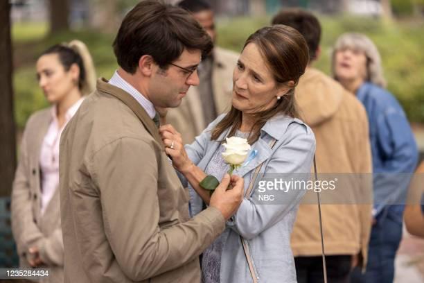 "Episode 102 ""Requiem"" -- Pictured: James Wolk as Joe Kimbreau, Anne Ramsay as Gwen --"