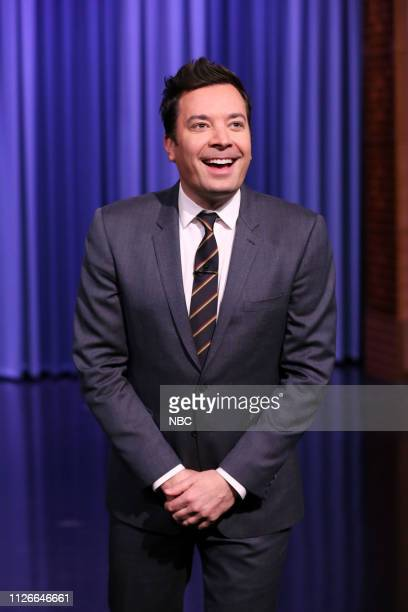 Host Jimmy Fallon during the monologue on February 21 2019