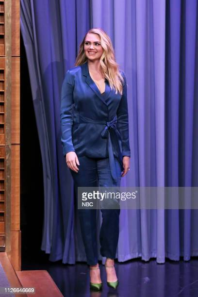 Model Kate Upton arrives to the show on February 21 2019