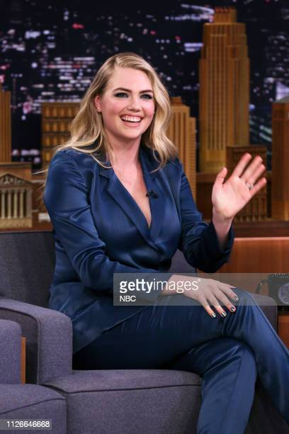 Model Kate Upton during an interview on February 21 2019
