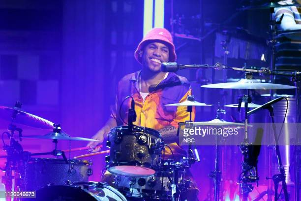 Musical guest Anderson Paak performs on February 21 2019