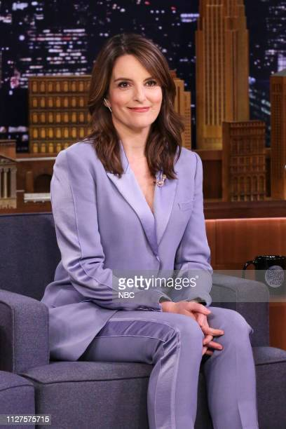 Episode 1022 -- Pictured: Actress Tina Fey during an interview on February 25, 2019 --