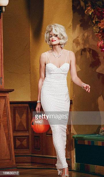 Episode 1022 -- Pictured: Model Cindy Crawford arrives on October 31, 1996 --
