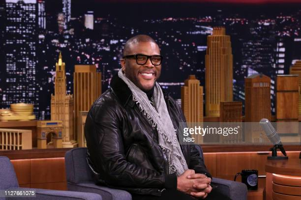 Actor Tyler Perry during an interview on February 26 2019
