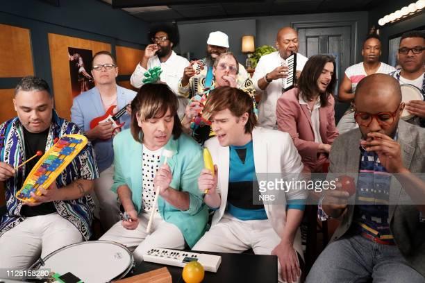 Kamal Gray Patrick Wilson host Jimmy Fallon Ahmir 'Questlove' Thompson Tariq 'Black Thought' Trotter Scott Shriner Rivers Cuomo James Poyser Brian...