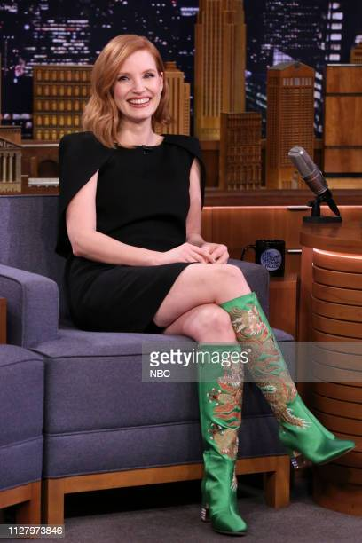Actress Jessica Chastain during an interview on February 27 2019