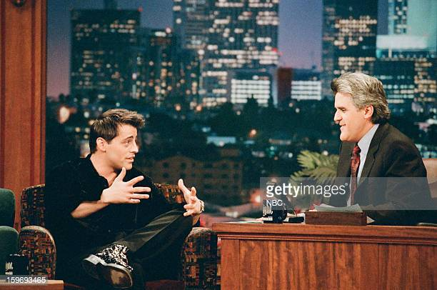 Actor Matt LeBlanc during an interview with host Jay Leno on November 7 1996