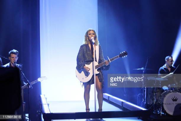 Musical guest Maren Morris performs on March 11 2019