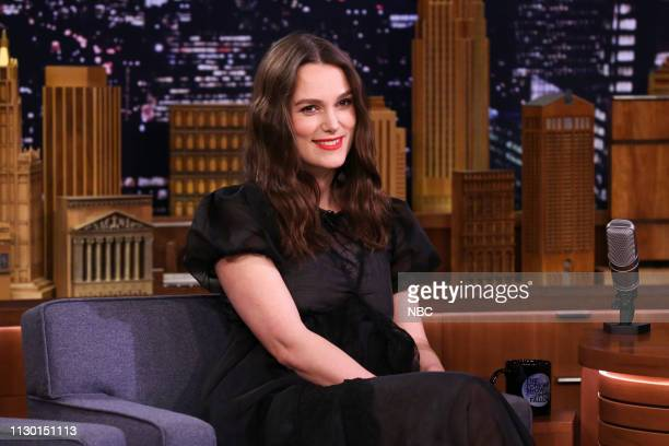 Episode 1028 -- Pictured: Actress Keira Knightley during an interview on March 12, 2019 --