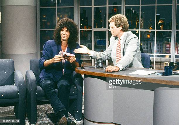 Radio personality Howard Stern during an niterview with host David Letterman on September 2 1988