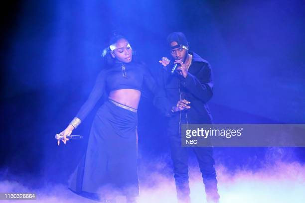Musical guest Normani featuring 6lack performs on March 13 2019