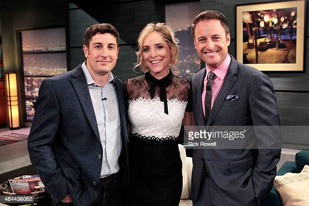 PARADISE Episode 103 Jason Biggs joined his wife cohost Jenny Mollen and host Chris Harrison as a panelist along with director James Gunn and...