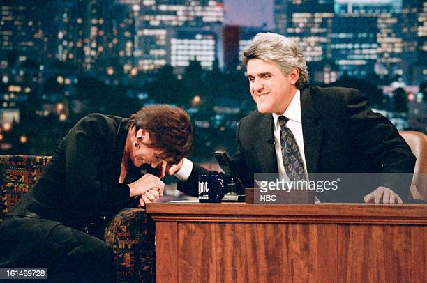 Actress Margot Kidder with host Jay Leno during an interviewon November 14 1996