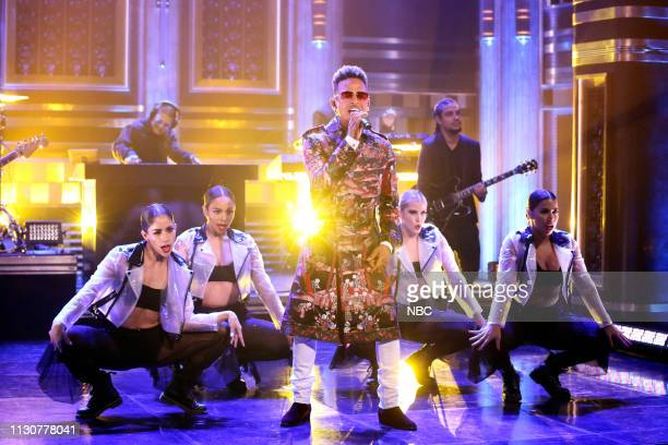 Musical guest Ozuna performs on March 15 2019