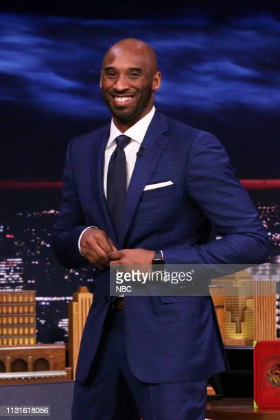 Basketball player Kobe Bryant arrives to the show on March 19 2019