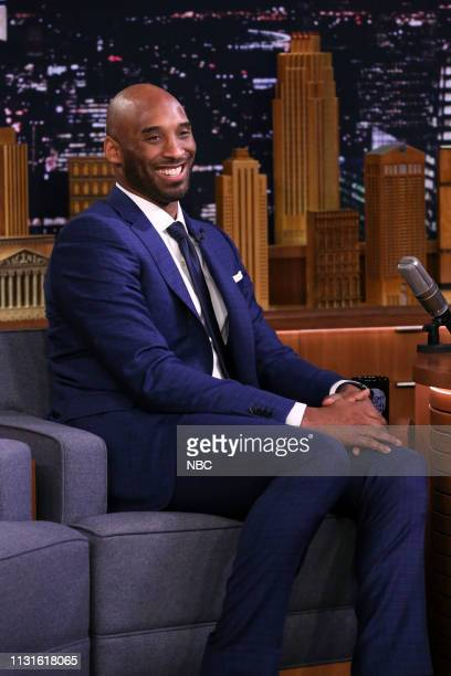 Basketball player Kobe Bryant during an interview on March 19 2019