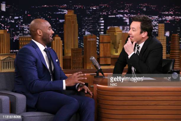 Basketball player Kobe Bryant during an interview with host Jimmy Fallon on March 19 2019
