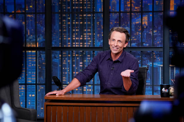 "NY: NBC'S ""Late Night With Seth Meyers"" With Guests Jane Fonda, Jorma Taccone, BONES UK"