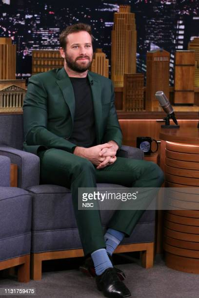 Actor Armie Hammer during an interview on March 20 2019