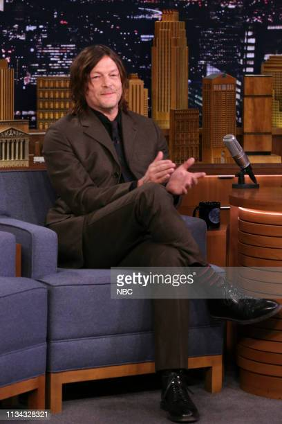 Episode 1036 -- Pictured: Actor Norman Reedus during an interview on March 22, 2019 --