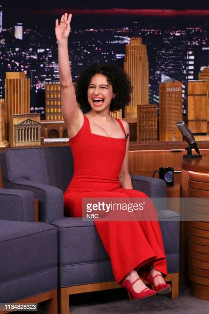 Episode 1036 -- Pictured: Comedian Ilana Glazer arrives to the show on March 22, 2019 --