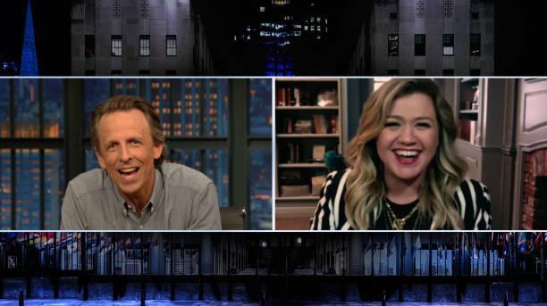 "NY: NBC'S ""Late Night With Seth Meyers"" With Guests Kelly Clarkson, Malcolm Jenkins, Michael Schmidt"