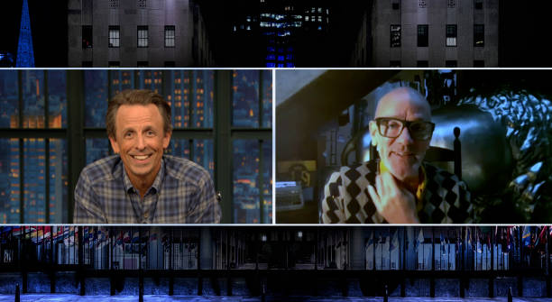 "NY: NBC'S ""Late Night with Seth Meyers"" With Guests Cynthia Nixon, Michael Stipe, Larry Wilmore (Band Sit-In: Sonny Emory)"