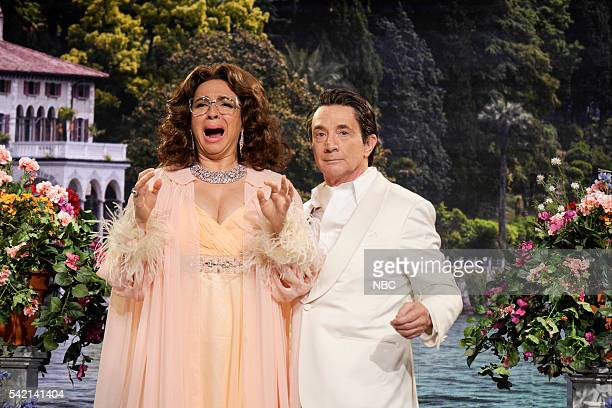 Maya Rudolph as Sophia Loren Martin Short as Leonardo during the Sophia Loren sketch on June 21 2016
