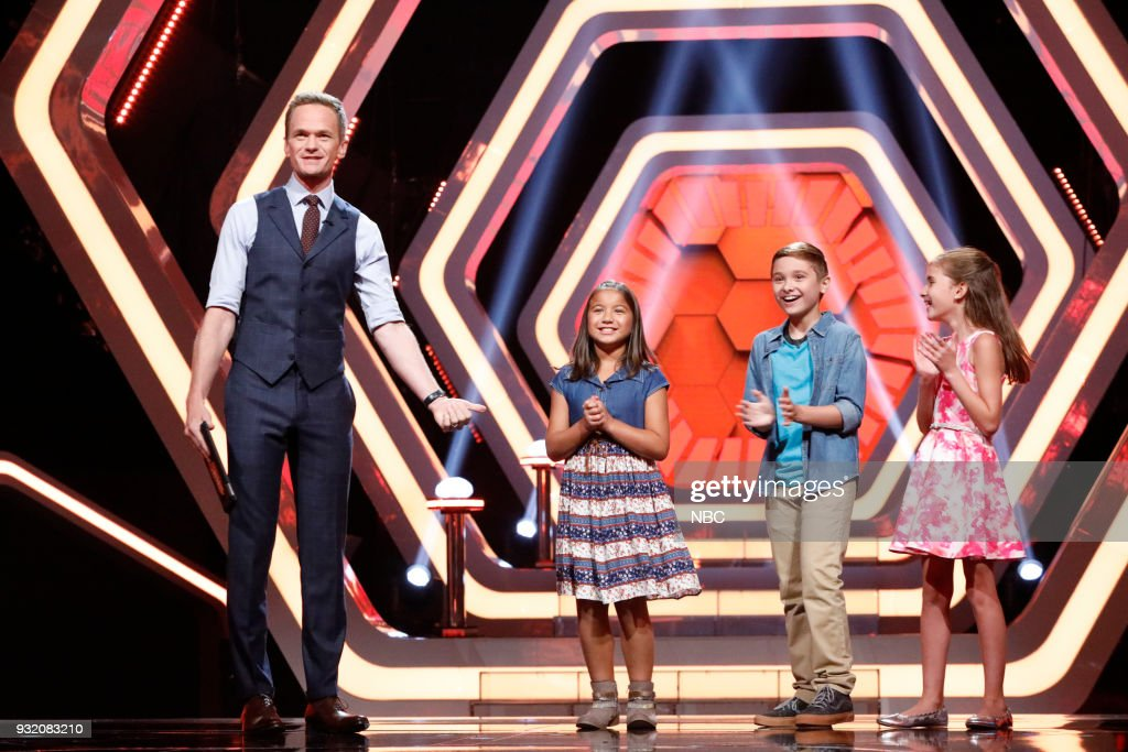 JUNIOR -- Episode 104 'Who's the Smartest?'-- Pictured: (l-r) Neil Patrick Harris, Team The Brainy Bunch --