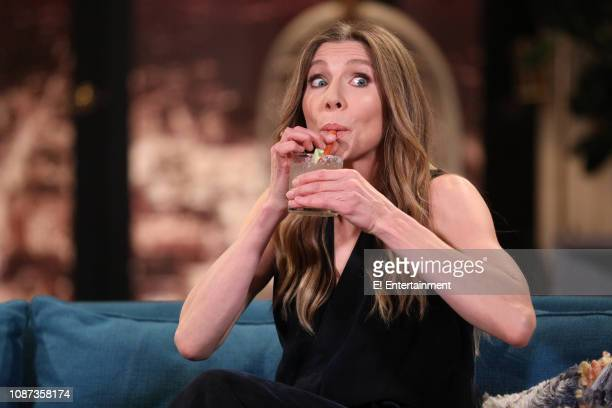 Guest Sarah Chalke on the set of Busy Tonight