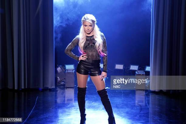 WWE Superstar Alexa Bliss during Kid Trash Talk on April 3 2019