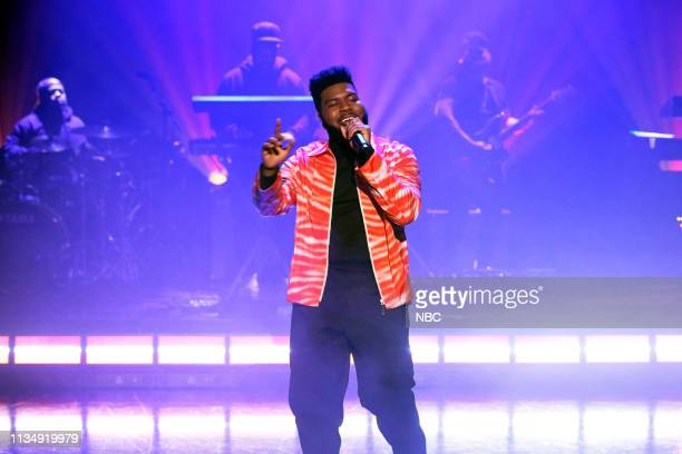 Musical guest Khalid performs on April 4 2019