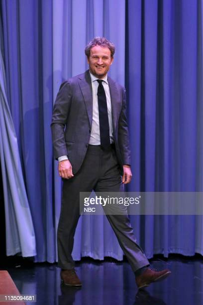 Actor Jason Clarke arrives to the show on April 5 2019