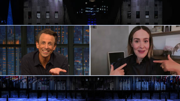 "NY: NBC'S ""Late Night With Seth Meyers"" With Guests Sarah Paulson, H. Jon Benjamin"