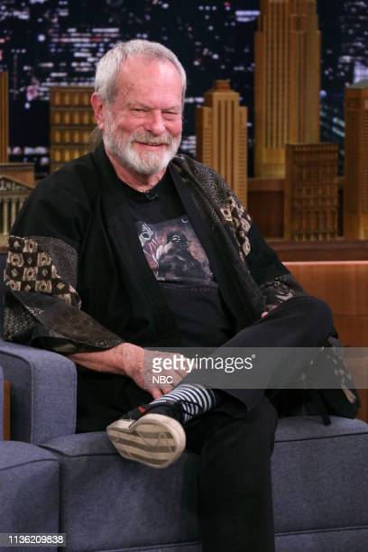 Episode 1045 -- Pictured: Film director Terry Gilliam during an interview on April 10, 2019 --