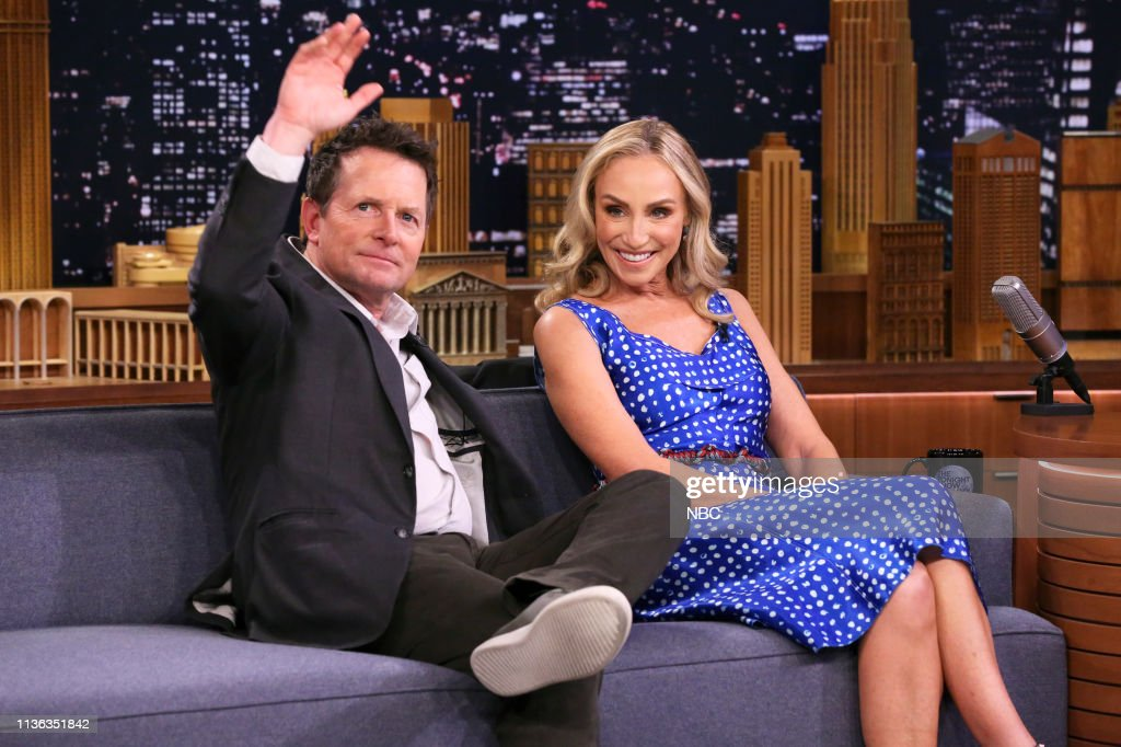 "NY: NBC'S ""Tonight Show Starring Jimmy Fallon"" With Guests Emma Stone, Tracy Pollan & Michael J. Fox, TANK AND THE BANGAS"