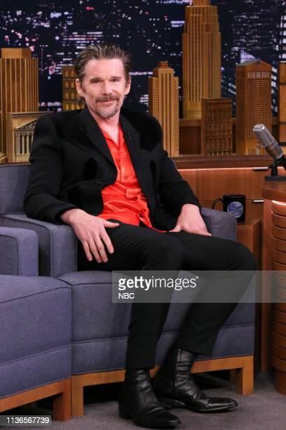 Actor Ethan Hawke during an interview on April 12 2019