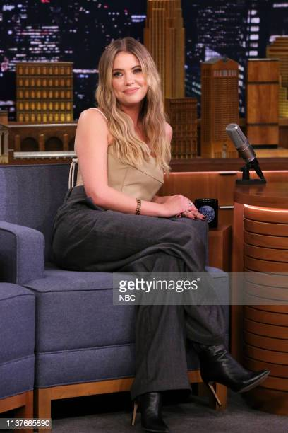 Episode 1049 -- Pictured: Actress Ashley Benson during an interview on April 16, 2019 --